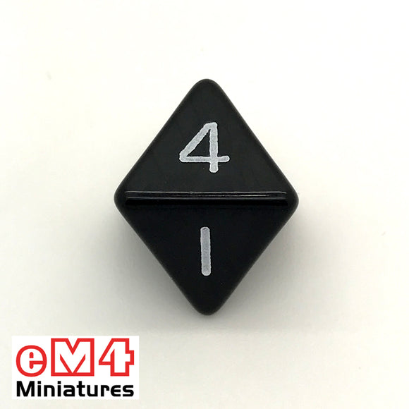 Opaque Black D8 Poly Dice