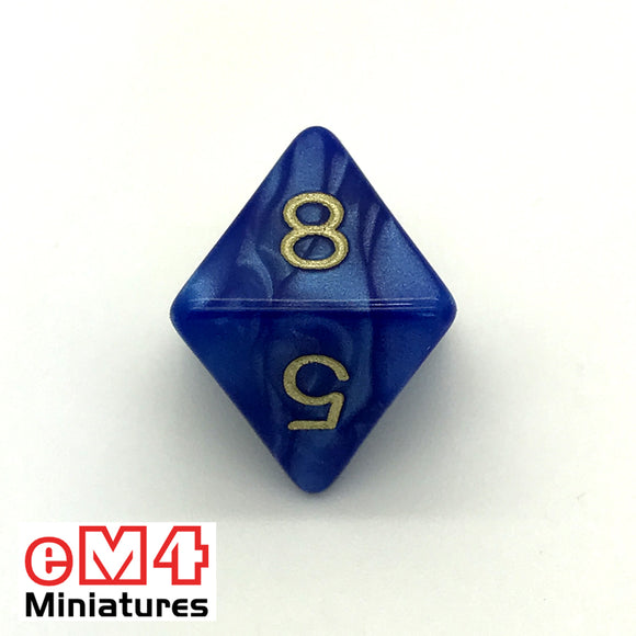 Pearl Blue D8 Poly Dice