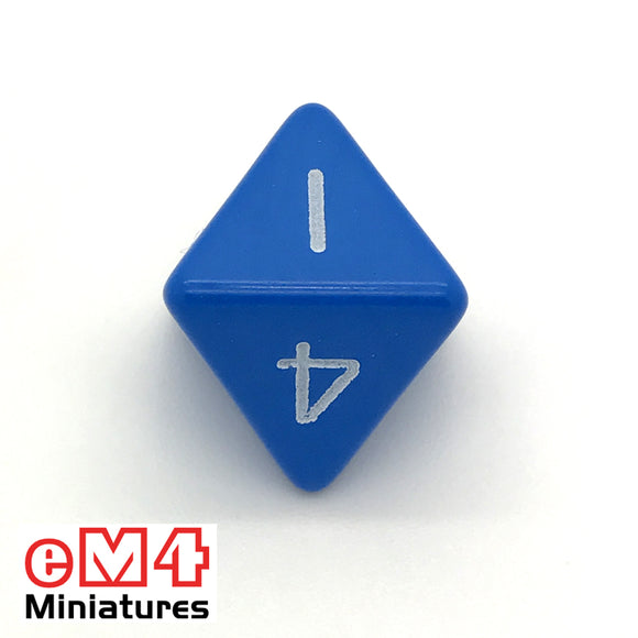 Opaque Blue D8 Poly Dice