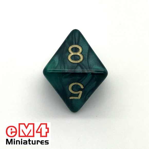 Pearl Green D8 Poly Dice