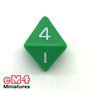 Opaque Green D8 Poly Dice