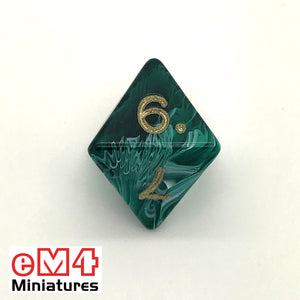 Marble Green D8 Poly Dice