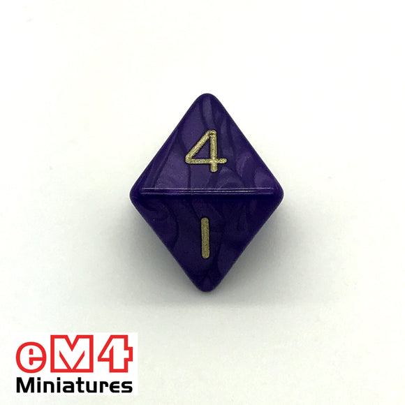 Pearl Purple D8 Poly Dice