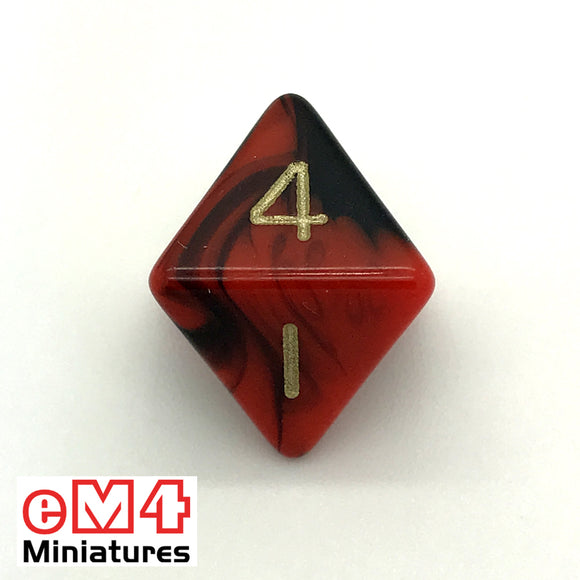 Oblivion Red D8 Poly Dice