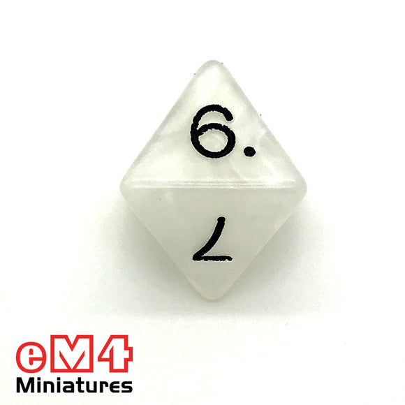 Pearl White D8 Poly Dice