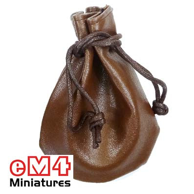 Dice bag 110 x 80mm Brown leatherette