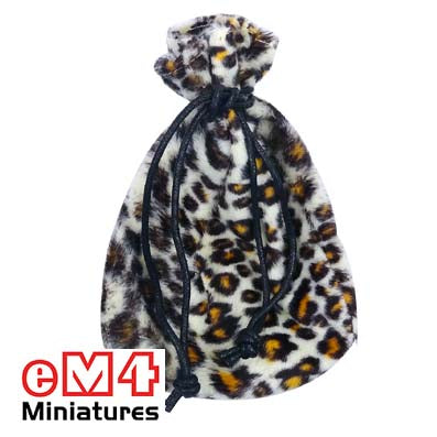 Dice bags 100 x 140mm Faux Fur