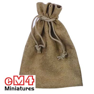 Dice bag 100 x 140mm Ratskin (suedette) brown
