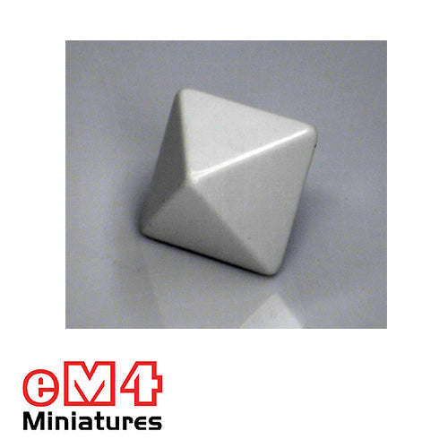 8 sided (D8) white Blank Jumbo polydice x 1