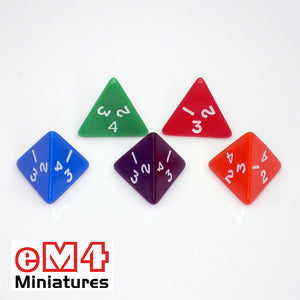 4 sided (D4) opaque polydice 1-4 bag of 5