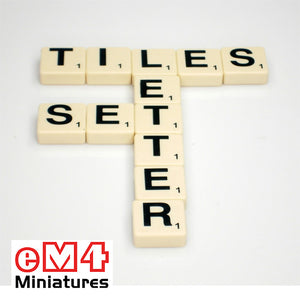 Letter tiles - set of 100 tiles with letters and their values. Ideal for word games
