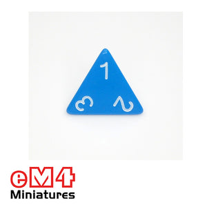 4 sided (D4)  opaque Jumbo polydice x 1