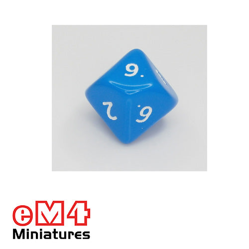 10 sided (D10) opaque Jumbo polydice x 1