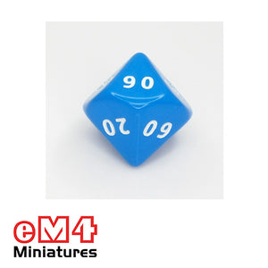 10 sided (D10) 00-90 opaque Jumbo polydice x 1