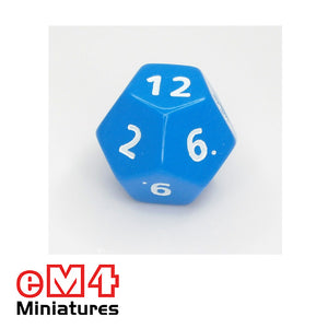 12 sided (D12) opaque Jumbo polydice x 1