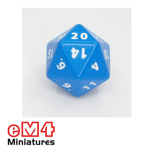 20 sided (D20) opaque Jumbo polydice x 1
