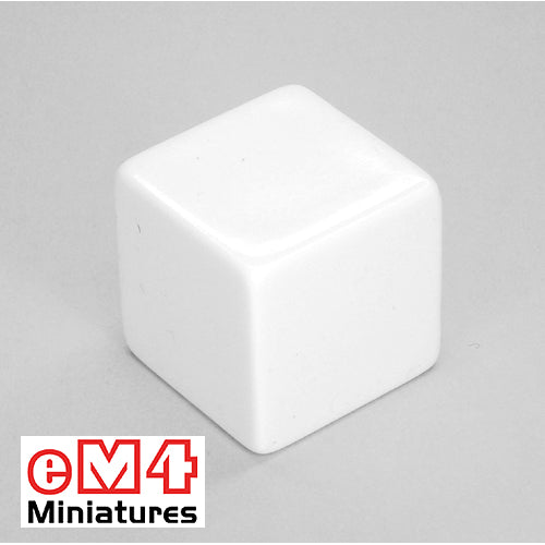 Blank 25mm 6 sided dice - singles