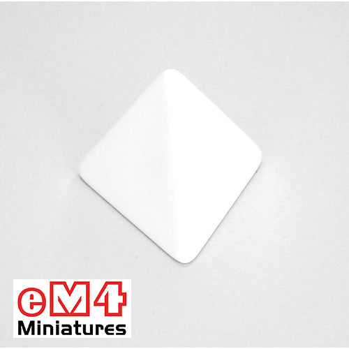 4 sided (D4) blank white jumbo dice