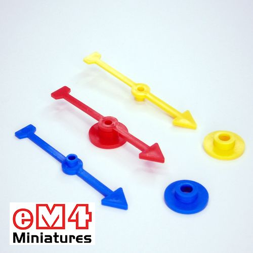 71mm Arrow Direction Spinner-White