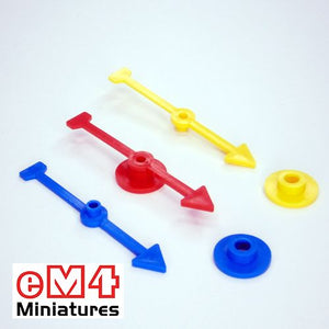 71mm Arrow Direction Spinner-Blue