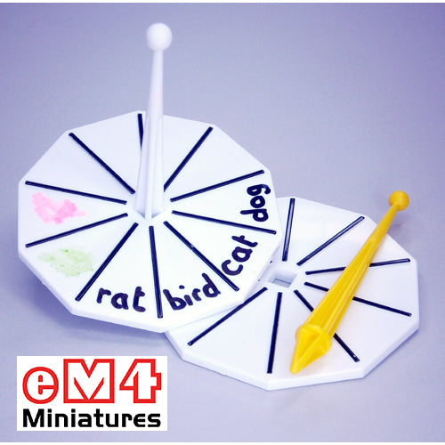 Large spinner random item generator. Ideal for stickers or marker pens - pack of 4