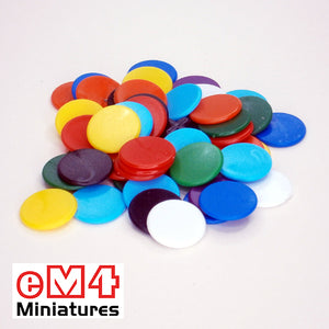 16mm counters mixed colours - bag of 500