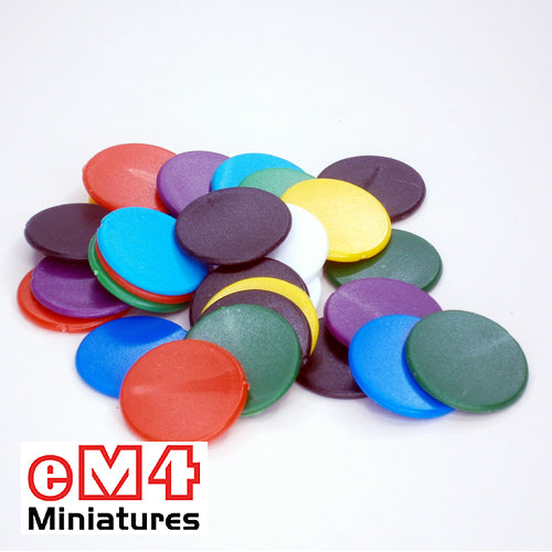 22mm counters mixed colours - bag of 500