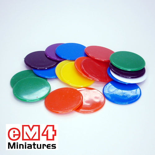 31mm counters mixed colours - bag of 250