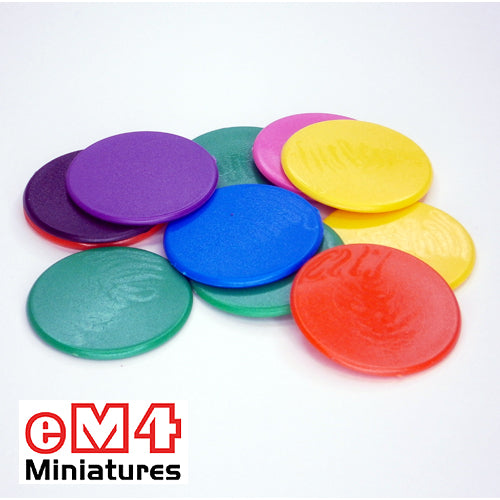 38mm counters mixed colours- bag of 100