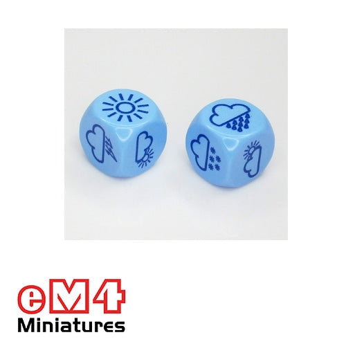 18mm weather dice - pack of 5