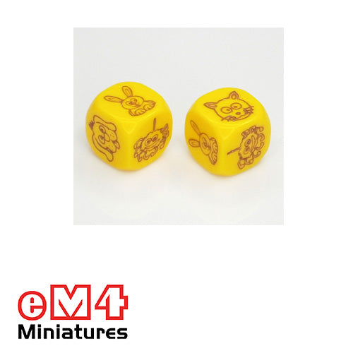 18mm pet dice - bag of 5