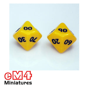 10 sided 100's dice - 00-90 pack of 5