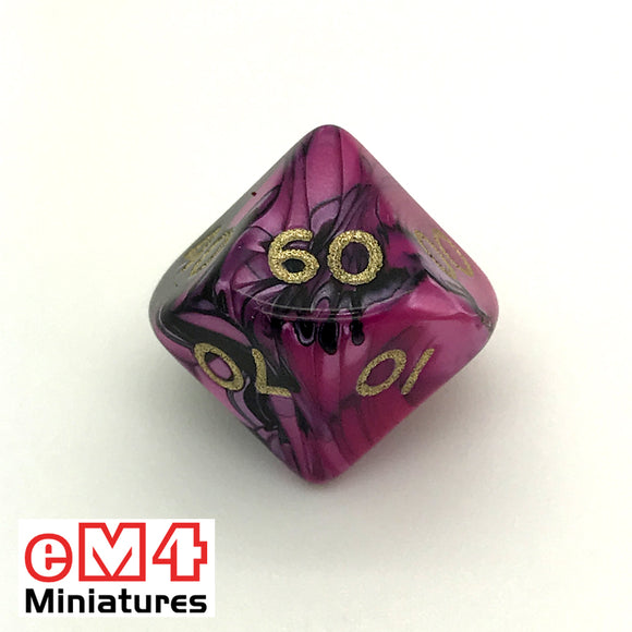 Toxic Fallout D10 (00-90) Poly Dice