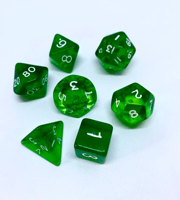 Gem Green 7 Poly Dice Set