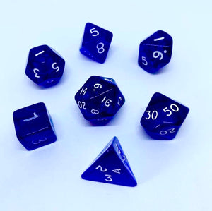 Gem Blue 7 Poly Dice Set