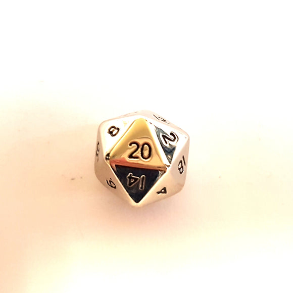Mini D20 - Chrome