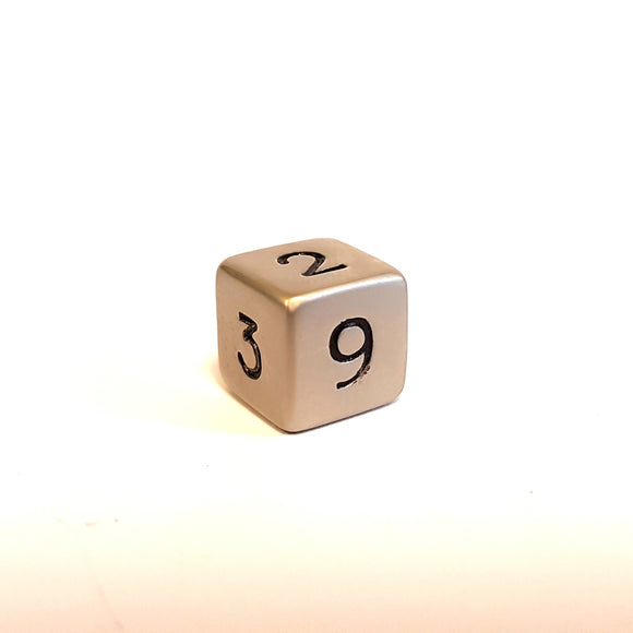 Mini D6 - Brushed Steel