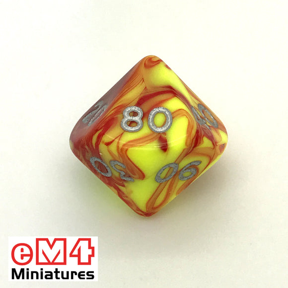 Toxic Ooze D10 (00-90) Poly Dice