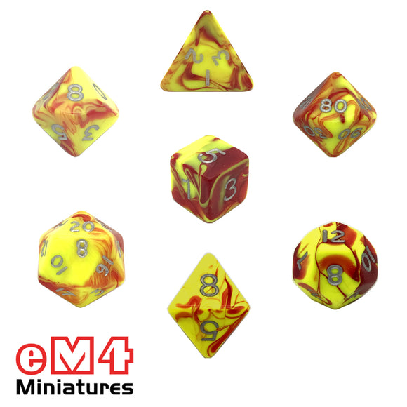 Toxic Ooze 7 Dice Poly Set