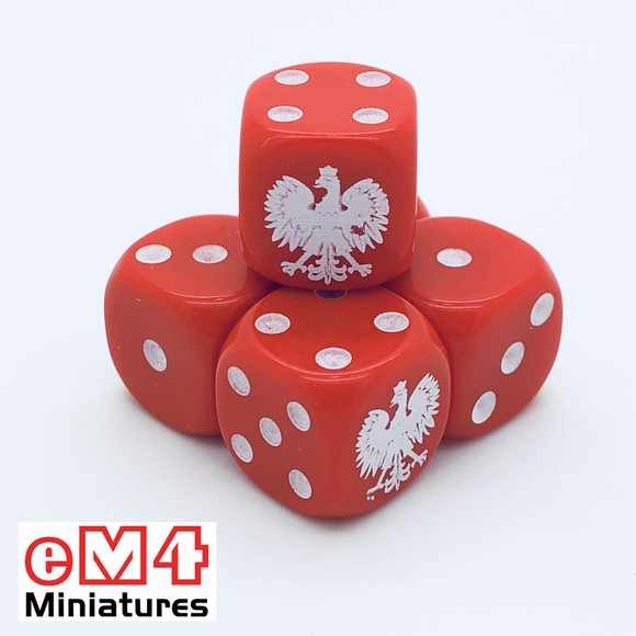 Polish Generic Dice x 6
