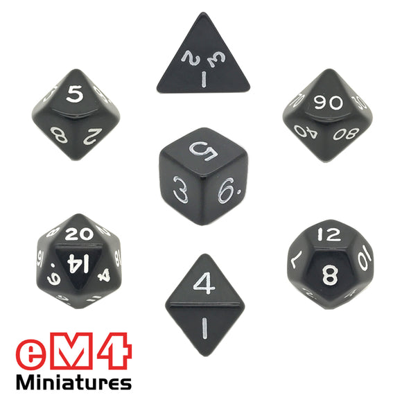 Opaque Black Poly Dice