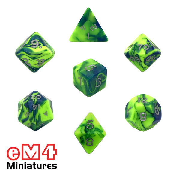 Toxic Slime 7 Dice Poly Set