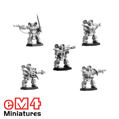 Space Rangers - 5 Plastic Miniatures