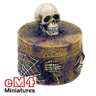 Skull Trinket Box 50mm Round - Now with Dice Included