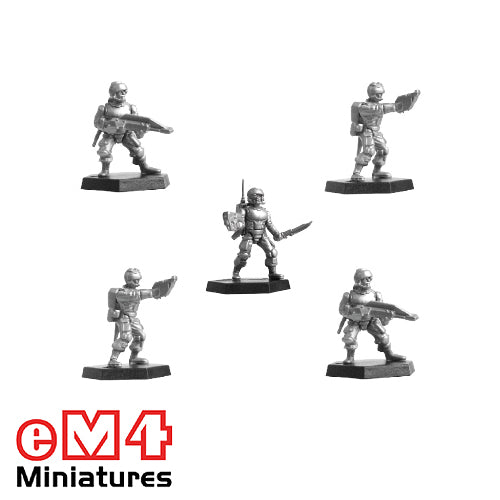 5 Plastic Trooper Miniatures