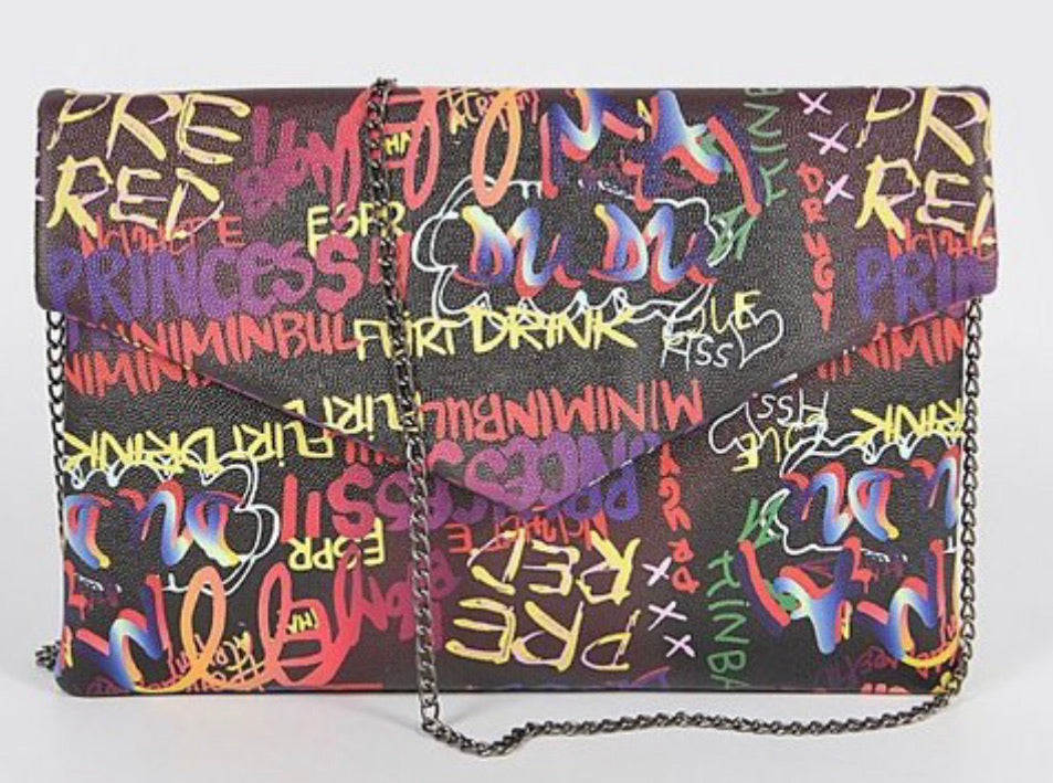 Chrissy Graffiti Envelope Purse