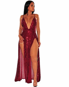 Sexy Sequins Loose Maxi Dress