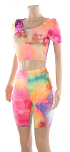 The Dye Crop and Short Two Piece Set