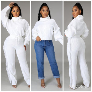 NuNu Fringe Sweater Set PREORDER