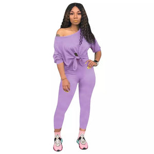 Tasia Cute and Comfy Top and Pants Two Piece Set